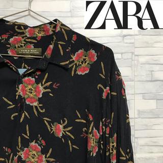 ZARA - ZARA 柄シャツ ビッグシルエット レーヨン