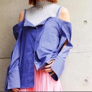 ルシェルブルー(LE CIEL BLEU)のルシェルブルー#新品タグ付き#ストライプシャツ(シャツ/ブラウス(長袖/七分))