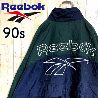 Reebok - 【リーボック】ビッグベクターロゴ刺繍 ナイロンジャケット アースカラー