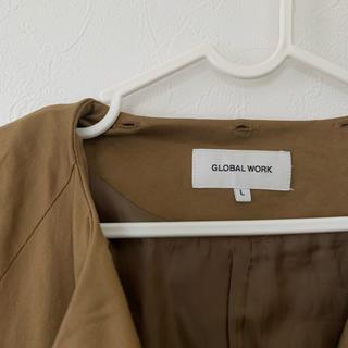 グローバルワーク(GLOBAL WORK)のGLOBAL WORK グローバルワーク 2wayトレンチコート ブラウン(トレンチコート)