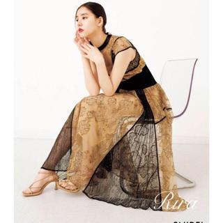 スナイデル(snidel)の正規品🌷新作新品🍀スナイデル スィッチイングレースドレス Mサイズ(ロングワンピース/マキシワンピース)