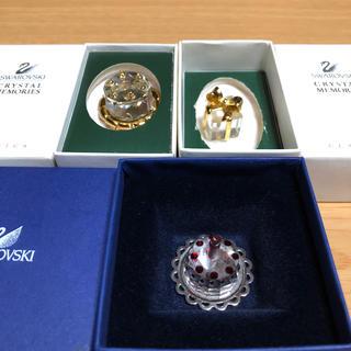 スワロフスキー(SWAROVSKI)のSWAROVSKIスワロフスキー バースデーケーキ プレゼント クリスタル置物(ガラス)