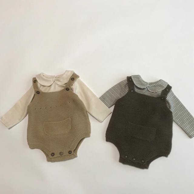 【bisque】Aosta くすみニットロンパース キッズ/ベビー/マタニティのベビー服(~85cm)(ロンパース)の商品写真