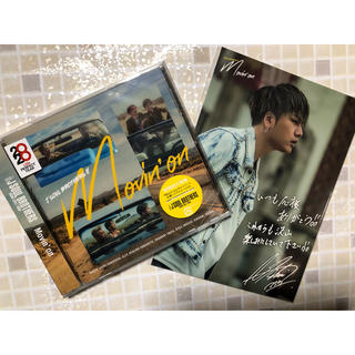 三代目 J Soul Brothers - Movin' on 三代目 CD 登坂広臣 2Lサイズカード 付き
