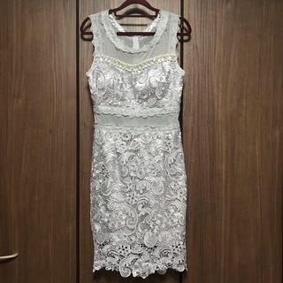 dazzy store - Dazzy Queen シースルービジュー 刺繍レースワンピースドレス
