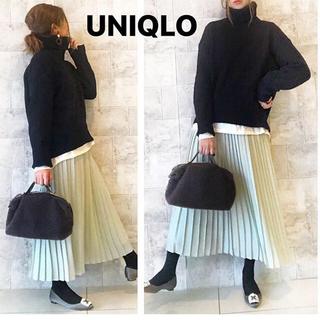 UNIQLO - 【新品未使用】ユニクロ シフォンプリーツロングスカート