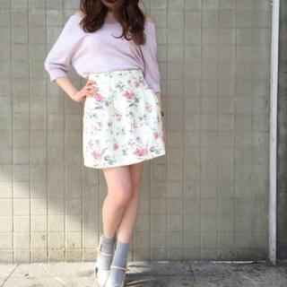 ダズリン(dazzlin)のdazzlin スカート 花柄(ミニスカート)