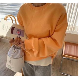 ゴゴシング(GOGOSING)の韓国ファッション♡オレンジスウェット(トレーナー/スウェット)