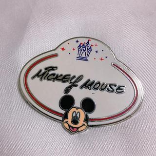 Disney - ミッキー ピンバッジ ネームタグ ディズニーランド