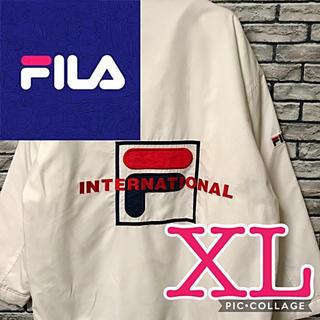 FILA - FILA フィラインターナショナル ビッグロゴ 刺繍 ナイロンジャケット テニス