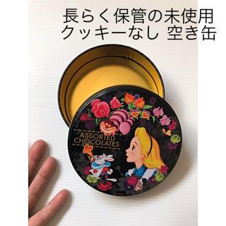 Disney - 長らく保管の未使用 Disney クッキーなし 不思議の国のアリス 空き缶