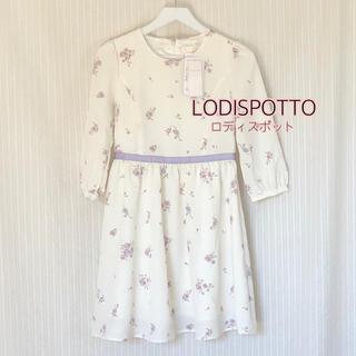 LODISPOTTO - M ロディスポット LODISPOTTO  花柄 ワンピース 七分袖 春