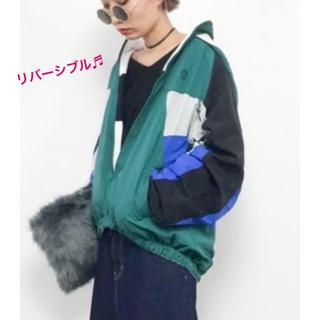 X-girl - リバーシブル 🍎 ウインドブレーカー