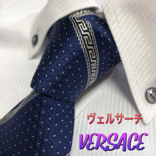 VERSACE - ヴェルサーチ ネクタイ VERSACE【美品】グレカ模様 ストライプ