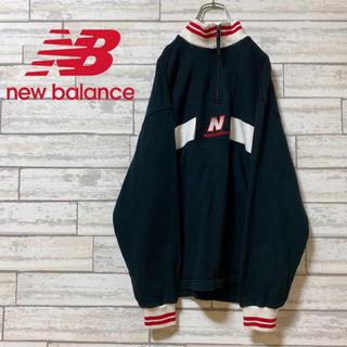 New Balance - 90s 古着 ニューバランス ハーフジップ スウェット ボーダー