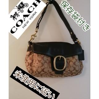 COACH - 極美品コーチハンドバッグショルダーバッグ収納に便利ブラックブラウン上品お出かけ