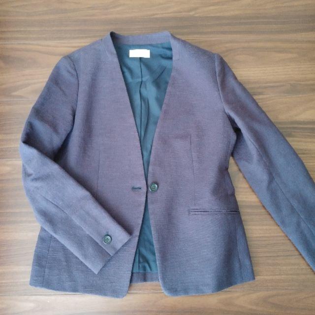 PLST(プラステ)のPLST プラステ スラブストレッチカラーレスジャケット レディースのジャケット/アウター(ノーカラージャケット)の商品写真