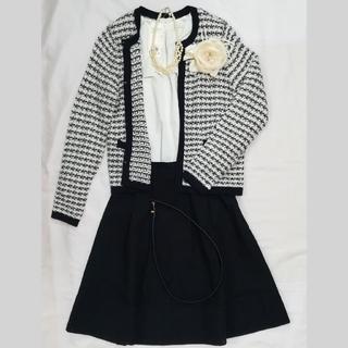 エニィスィス(anySiS)の新品 スーツ カーディガン 入学式 フォーマル スカートベルト付き セット入園式(スーツ)