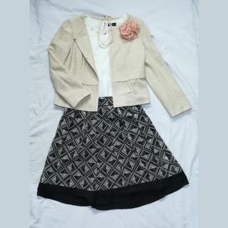 エニィスィス(anySiS)の日本製 スーツ 入学式 ジャケット スカート2点 セット セットアップ(スーツ)