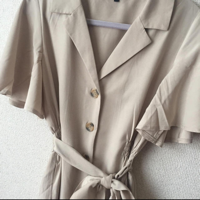 rienda(リエンダ)の最終値下げrienda オープンカラー2wayシャツOP レディースのワンピース(ひざ丈ワンピース)の商品写真