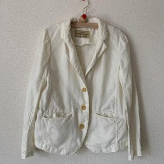 ネストローブ(nest Robe)のnest robe 麻100%ジャケット 白(テーラードジャケット)