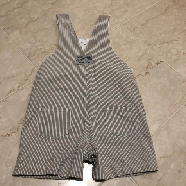 PETIT BATEAU(プチバトー)のプチバトー  ベージュ サロペット 12M 74cm キッズ/ベビー/マタニティのベビー服(~85cm)(ロンパース)の商品写真