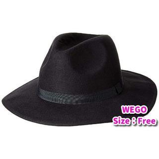 WEGO - 【新品】WEGO ポリツバ広ハット レディース ブラック FREE サイズ