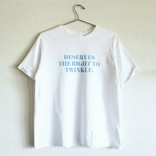 Mila Owen - スリーブデザイン3段ロゴTシャツ