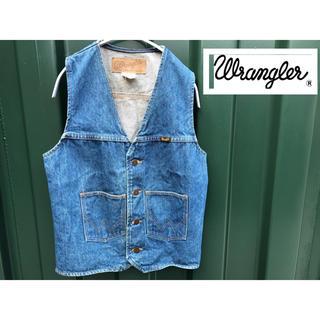 ラングラー(Wrangler)のwrangler ラングラー デニムジャケット ベスト USA製(Gジャン/デニムジャケット)