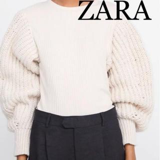 ザラ(ZARA)の新品 ZARA ザラ パフスリーブ ニット S(ニット/セーター)