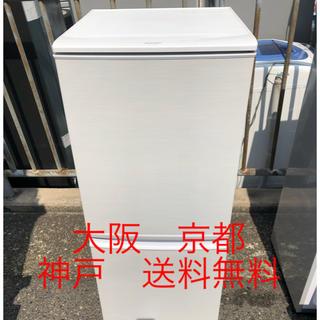 シャープ(SHARP)のシャープ ノンフロン冷凍冷蔵庫  SJ-14X-W       2013年製 (冷蔵庫)