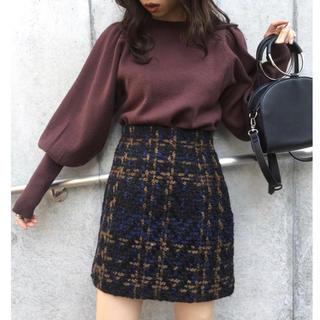 SLY - SLY チェック ツイード スカート