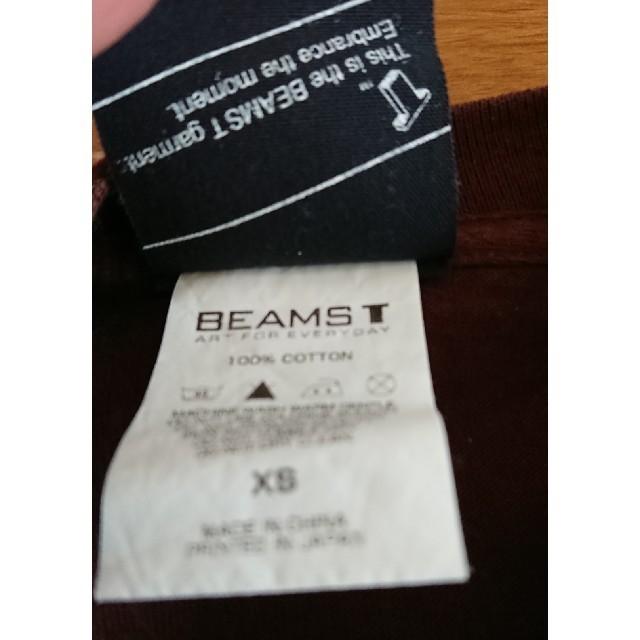 BEAMS(ビームス)の(BEAMS)半袖Tシャツ XS くま レディースのトップス(Tシャツ(半袖/袖なし))の商品写真