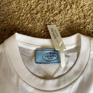 PRADA - 新品未使用 タグ付き PRADA プラダ コットン 無地Tシャツ 白