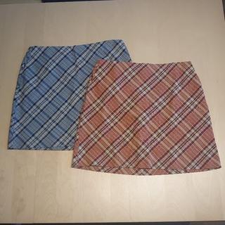 オールドネイビー(Old Navy)の【Old Navy】ミニスカート ブルー&レッド 2枚色違いセット(ミニスカート)