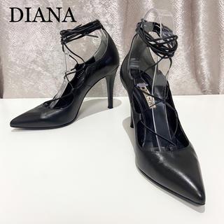 DIANA - 【DIANA】24.5cm レースアップ パンプス ヒール 春 ドレス 本革