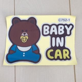 サンリオ - 新品未使用 baby in car ステッカー ブルー