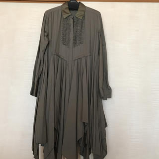 ATSUROTAYAMA カーキ色ロングシャツ美品