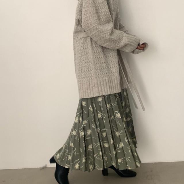 LOWRYS FARM(ローリーズファーム)の【WEB限定 yuw】ガラプリーツスカート レディースのスカート(ロングスカート)の商品写真