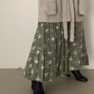LOWRYS FARM - 【WEB限定 yuw】ガラプリーツスカート