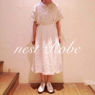 ネストローブ(nest Robe)の* nest Robe * 2015 リネン ギャザー衿ブラウス(シャツ/ブラウス(半袖/袖なし))