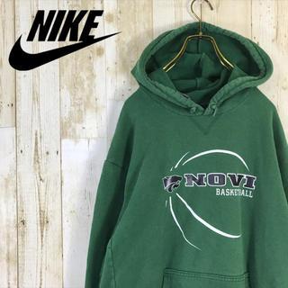 NIKE - NIKE ナイキ パーカー スウェット ビッグプリント バスケット メキシコ製
