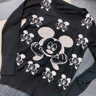 ディズニー(Disney)のディズニー ミッキー ニット キラキラ  フリー 韓国 ファッション(ニット/セーター)