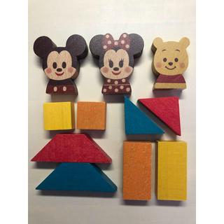 Disney - ディズニー キディア KIDEA ミッキーミニー プーさん 積み木 知育
