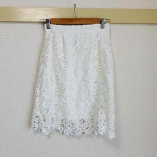 ミスティウーマン(mysty woman)のレース膝丈スカート(ひざ丈スカート)