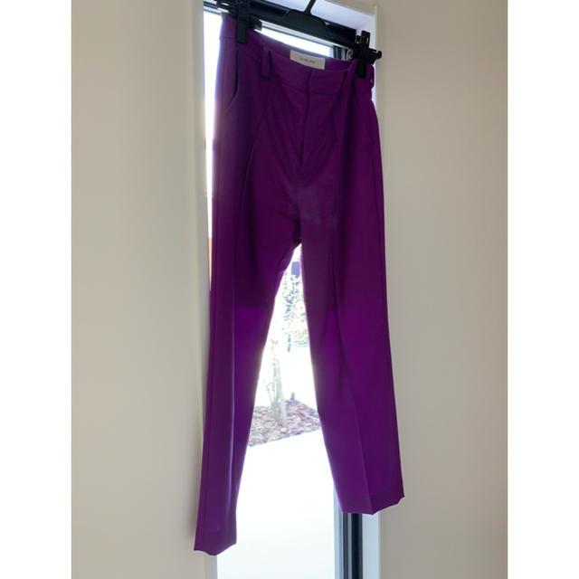 Drawer(ドゥロワー)のルシェルブルー パンツ サイズ36 レディースのパンツ(カジュアルパンツ)の商品写真