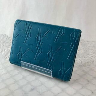 Saint Laurent - ❤セール❤ サンローラン 財布 折り財布 二つ折り レディース メンズ ブルー