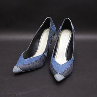 DIESEL - ディーゼル デニムパッチワークハイヒール 35 レディース 靴 使用感少なし