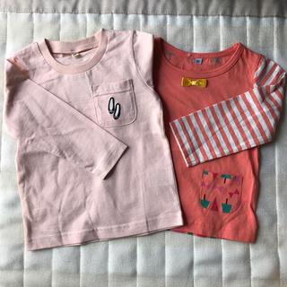 西松屋 - 【新品タグ付き】長袖Tシャツ 90cm 2枚セット