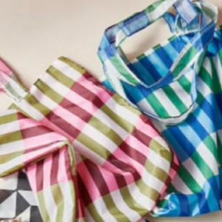 IKEA - 新品⭐春の新作⭐大人気⭐イケア⭐エコバッグ【青&ピンク】スキンケ 2種類セット